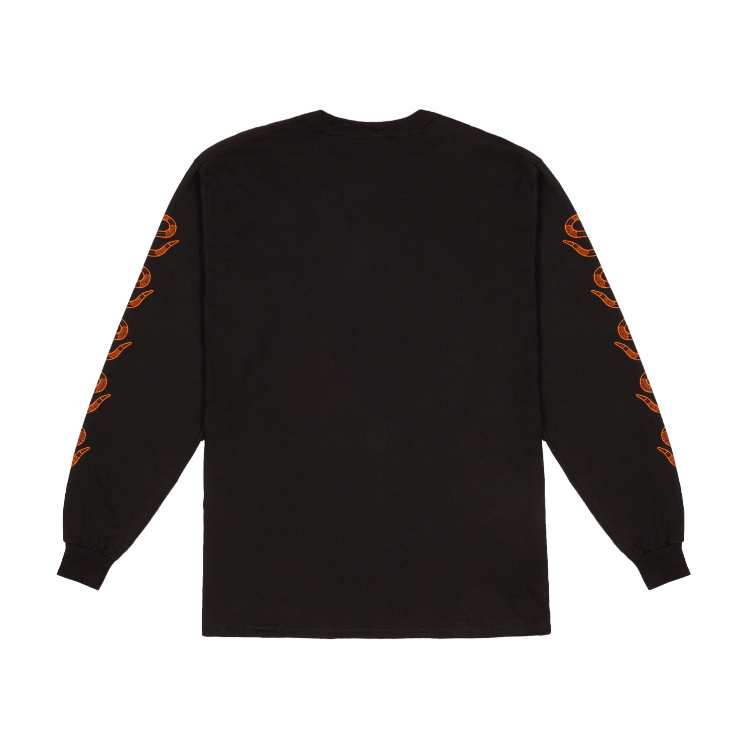 Black t shirt photo - Long Sleeved Black T Shirt Black Orange Printed