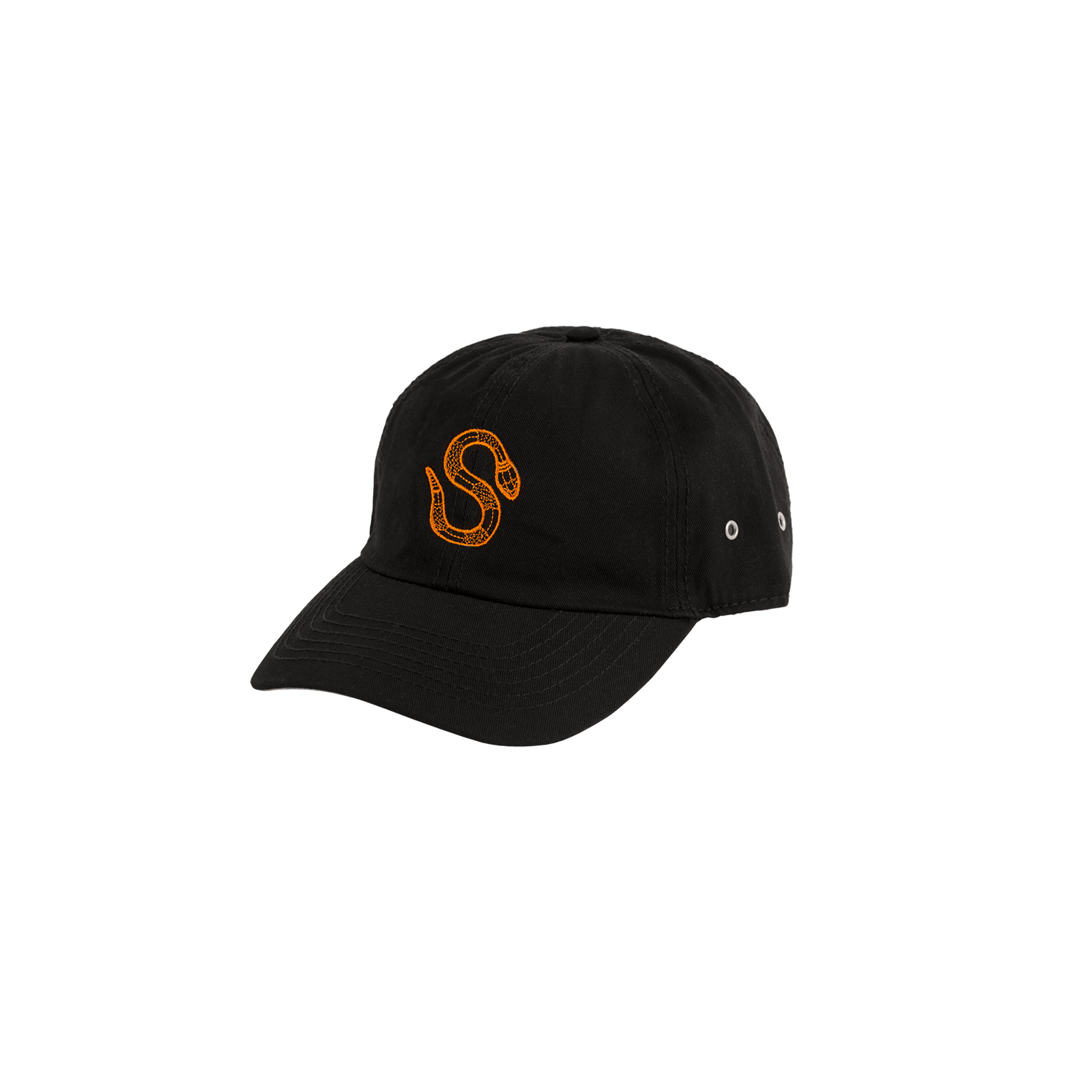 La Vida de Sita Dad cap Black orange embroidered