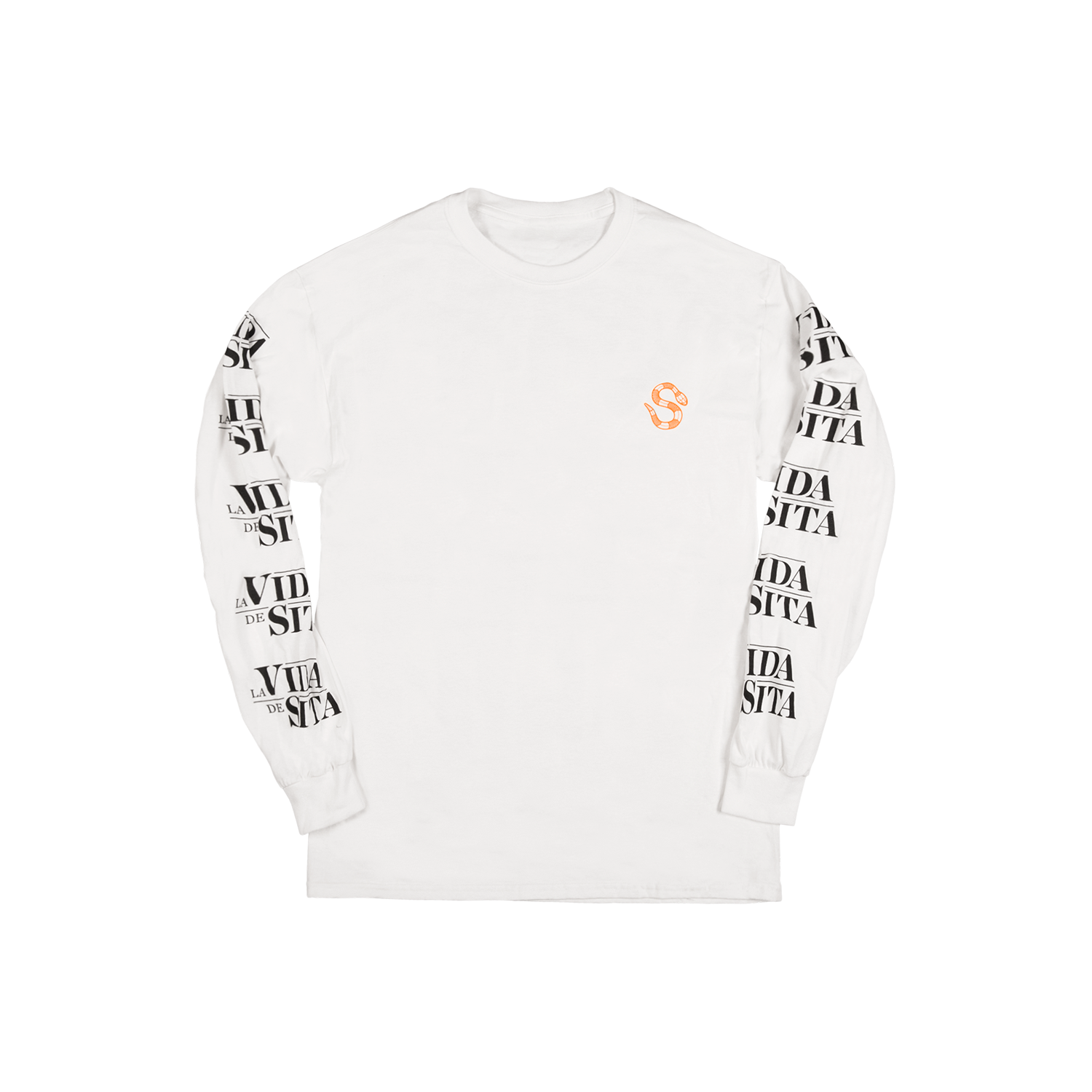 La Vida de Sita white T-shirt Long-sleeve back printed